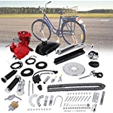 Sihand 80CC Bicycle Engine Kit, Motorized Bike 2-Stroke, Petrol Gas Engine Kit, Super Fuel-efficient for 24',26' and 28' Bikes (Red)