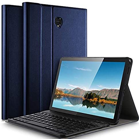 Galaxy Tab S4 10.5 Keyboard case Ultra-Thin Detachable Wireless Keyboard Stand Portfolio Case/Cover for Samsung Galaxy Tab S4 10.5 SM-T830 (Wi-Fi)/SM-T835 (LTE) Tablet(10.5 inch) (Blue) - 513eetYoyTL - Galaxy Tab S4 10.5 Keyboard case Ultra-Thin Detachable Wireless Keyboard Stand Portfolio Case/Cover for Samsung Galaxy Tab S4 10.5 SM-T830 (Wi-Fi)/SM-T835 (LTE) Tablet(10.5 inch) (Blue)