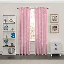 "Eclipse 15941042X084PNK Tiny Bella Kids Window Curtain Panel, Pink, 42x84"""