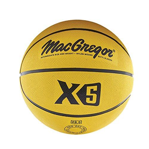 MacGregor Intermediate Size Multicolor Basketball, Yellow -  Sport Supply Group, Inc., MCBBX525