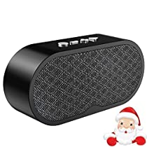 Wireless Bluetooth Speaker, Free Junge Outdoor Portable Stereo Speaker with HD Audio and Enhanced Bass, Built-In Dual Driver Speakerphone, Bluetooth 4.2, Handsfree Calling,TF Card Slot and FM Radio