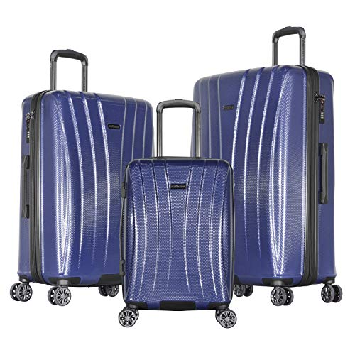 Olympia Comet 3-Piece Exp. Hardcase Spinner Set, Navy