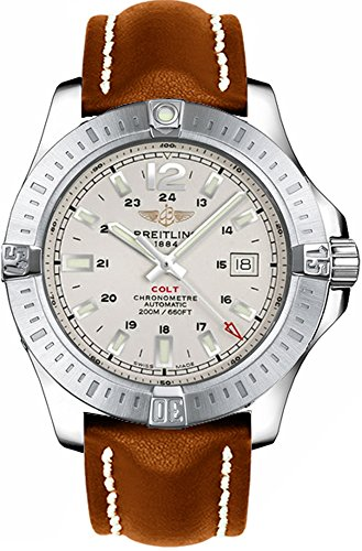 Breitling Colt Automatic 44mm Brown Leather Strap Men's Watch