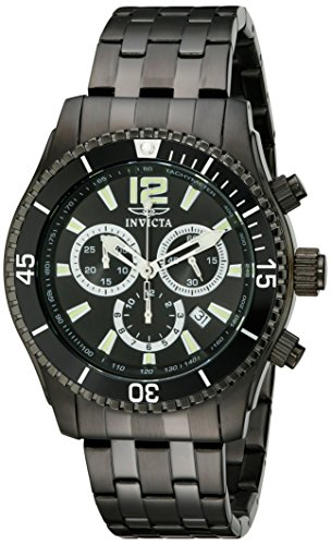 Invicta Men's 0624 Invicta II Chronograph Black Ion-Plated Stainless Steel ()