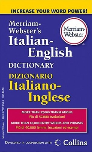 M-W Italian-English Dictionary by Merriam-Webster Inc.