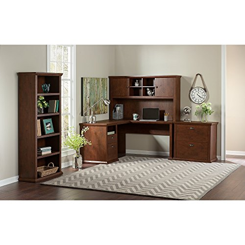 Yorktown Shaped Lateral Cabinet Bookcase