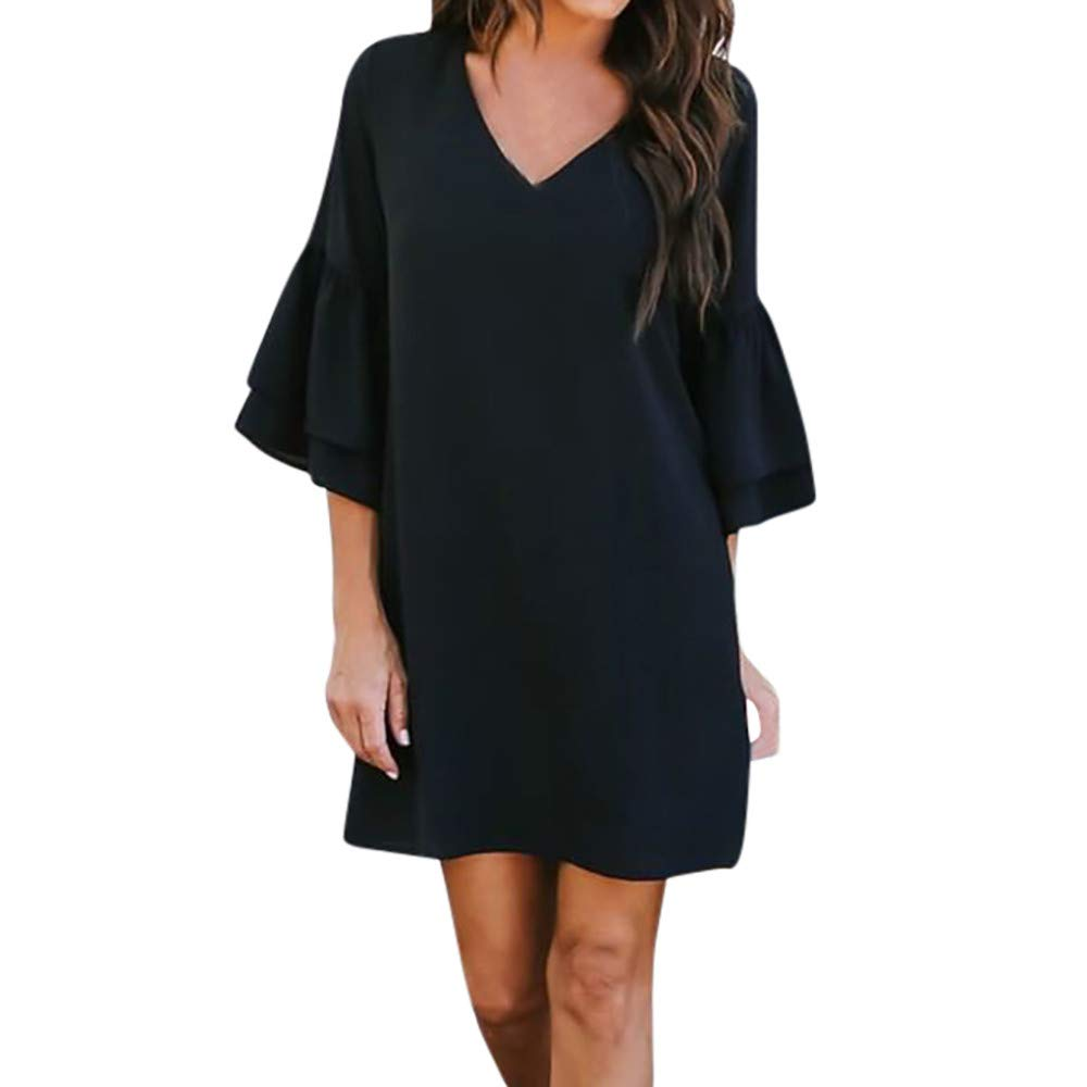 Elegant Casual Summer Classic Homecoming Party V Neck Dress Long Loose Oversized