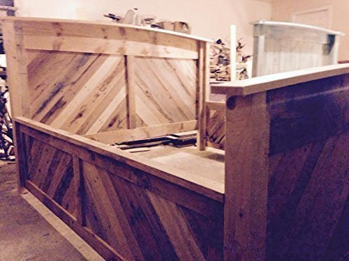 High Sided 100% Hand-Crafted Work Of Art Bed Frame