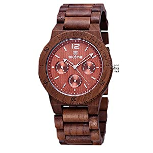 WTRW011-Bl Natural Wooden Wrist Watches Men Women Watch Fashion