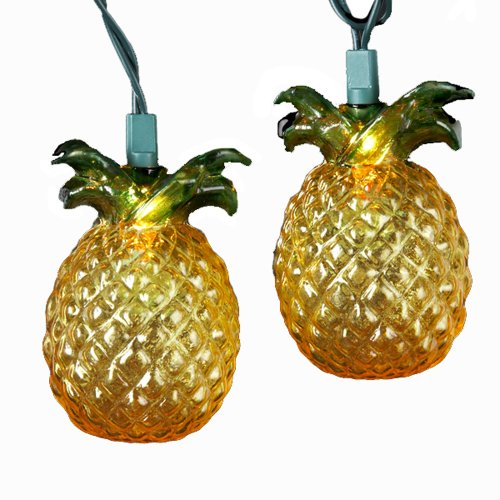 Kurt Adler 10-Light Glass-Look Pineapple Light Set (Glass Ten Light)