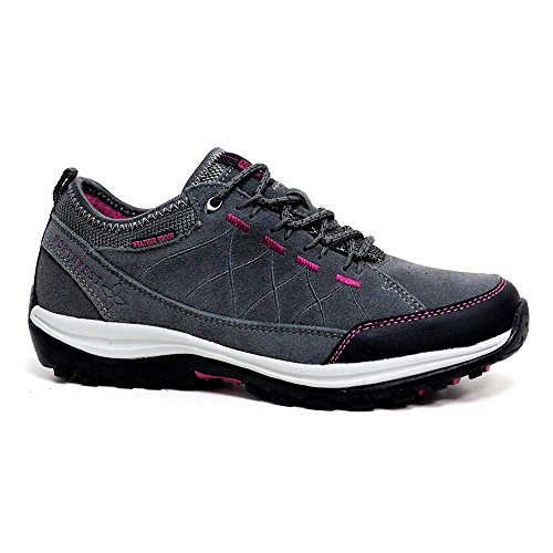 disponibili da nei al ideali donna 5 Stivaletti leggera 42 in Grey scarpe per l'escursionismo impermeabile 35 dal numeri Fuchsia pelle vgWcqd