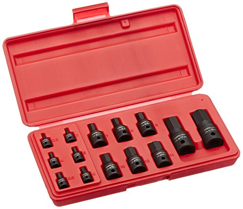 Neiko 01141B Impact Hex Socket Set Industrial Grade Cr-Mo Steel (14 Piece), 1/4