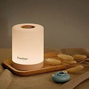 Finether テーブルランプ おしゃれ ベッドサイトランプ USB充電式 卓上スタンドライト