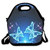 Best Under Armour Lunch Boxes - Blue Butterfly Reusable Insulated Lunch Bag School Picnic Review