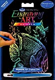 Royal Brush Mini Rainbow Foil Engraving Art Kit, 5 by 7-Inch, Tropical Fish
