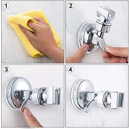 two packs Bathroom Suction Cup Handheld Shower head Bracket Removable Handheld Showerhead /& Wall Mounted Suction Bracket Adjustable Shower Head holder