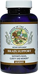 BRAIN SUPPORT - Natural Complex Formula Supports Focus, Clarity, Memory and Brain Function!