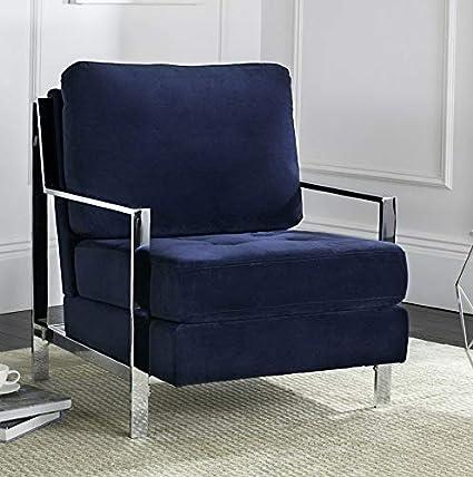 Amazon.com: Hebel Walden Modern Tufted Linen Accent Chair ...