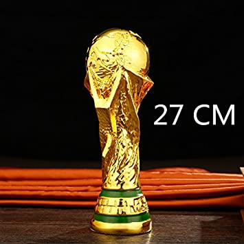 ETbotu 2018 Russia World Cup Football Prize Model Hercules Cup Model Ornaments Fans Souvenirs Gift(Foam Packaging, Gold