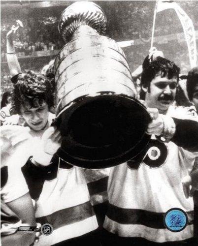 Philadelphia Flyers Photo File (Bobby Clarke Bernie Parent Philadelphia Flyers Stanley Cup Photo (Size: 8