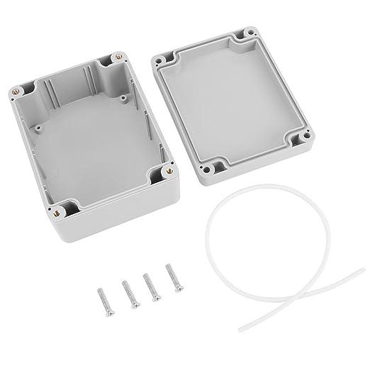 Caja de armario eléctrico IP65, Caja de conexiones eléctrica de plástico ABS, Caja de instrumentos de caja de proyecto exterior (115 * 90 * 55mm)