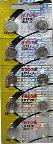 Maxell Watch Battery Button Cell LR1120 AG8 Pack of 10 Batteries