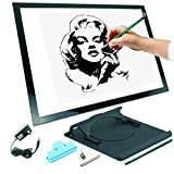 "A3 19"" LED Artist Stencil Board Tattoo Drawing Tracing Table Display Light Box Pad"