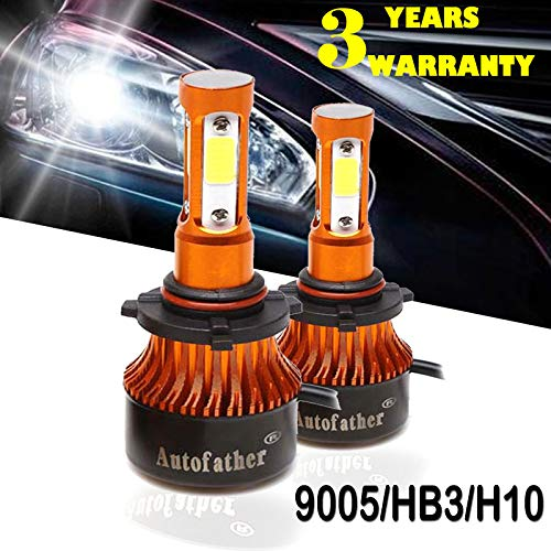 9005/HB3/H10 LED Headlight Bulbs Conversion Kit High Single Beam Fog Light 20000lm 6K Cool White, 4-Sides Super Bright COB Led Chips, 3 Years Warranty
