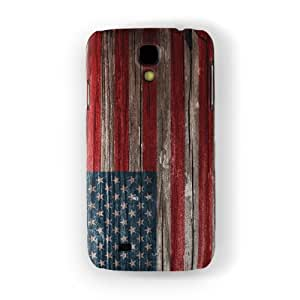 Vintage Wood Flag of United States - US Flag - American Flag - USA Flag Full Wrap High Quality 3D Printed Case, Snap-On Protective Hard Back Cover for Samsung® Galaxy S4 by UltraFlags