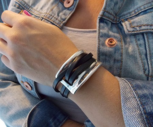 leather-wrap-bracelets-with-silver-zamak-rectangle-component