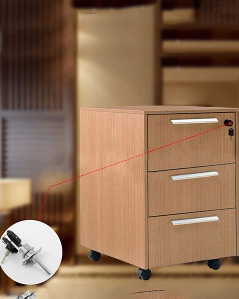 Schrankschloss Schreibtischschloss Zinklegierung Ersatz-Kit 1,5 cm Durchmesser Geh/äuseschloss Schwarz 2 x silberfarbene Schubladenschloss Zylinderschloss