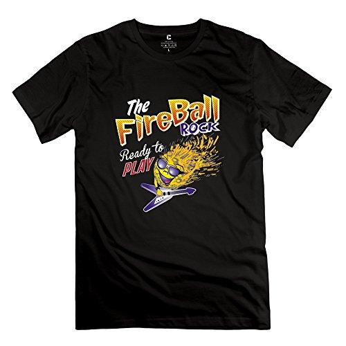 DASY Men's O Neck Fire Ball Shirt Large