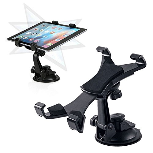 Tablet Car Mount Holder, Linkstyle Windshield Dashboard Tablet Mount Holder Universal Adjustable Tablet Car Holder Compatible with Samsung Galaxy Tab/iPad Mini/iPad Air/iPad 4/3 (All 7-10inch Tablets)