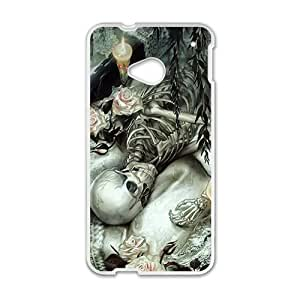 Happy Skull Phone Case for HTC One M7 case