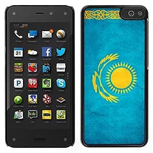 LECELL--Funda protectora / Cubierta / Piel For Amazon Fire Phone -- Nacional bandera de la nación País Kazajstán --