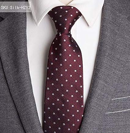 LFLJIE Hombres Corbatas de Seda Hombre Moda Dot Stripe 8cm ...