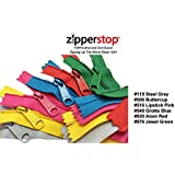 Zipperstop Wholesale YKK® 18 Inch 6pcs Assorted Hottest Colors YKK® #4.5 Handbag Zippers – Extra-long Pull Closed Bottom Made in USA Color #119 Steel Grey, #506 Buttercup, #516 Lipstick Pink, #549 Grotto Blue, #820 Atom Red, #876 Jewel Green