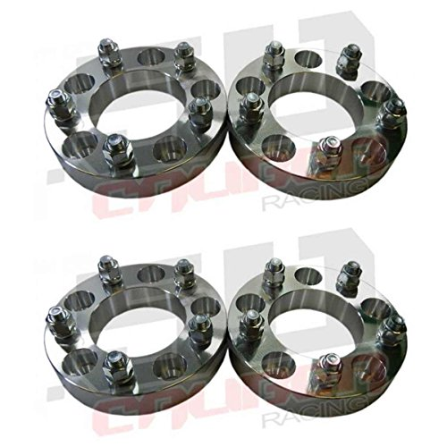 Set of 4 Wheel Spacers 5 x 5 (5 x 127mm) - 1.0 inch thick - Wrangler, Rubicon, Commander, Cherokee, Chevy and GMC 1/2 Ton 2wd Trucks, Astro and G20 Vans [5284-A15]