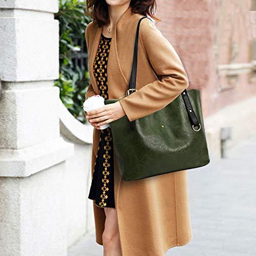Capacité Main Pochettes Fourre Green tout Sacs élégantes Femmes à Mode Loisirs Haute Sac Rivet Sacs Multifonctions qw5xCfB7q