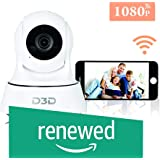 (Renewed) D3D Wireless Full HD 2.0 MegaPixel Ip WiFi CCTV Indoor Security Camera (Support Upto 128 GB SD Card) (White) Model:D9910