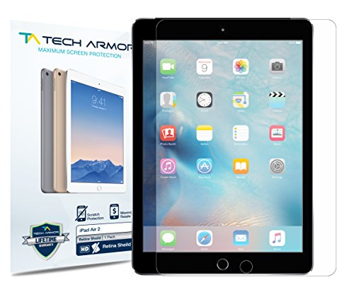 Apple iPad Air RetinaShield Screen Protector, Tech ArmorPremium Blue Light Filter Apple iPad Air / Air 2 / NEW iPad 9.7 (2017) Film Screen Protector [1]