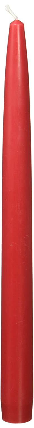 Zest Candle 12-Piece Taper Candles, 10-Inch, Red CEZ-028