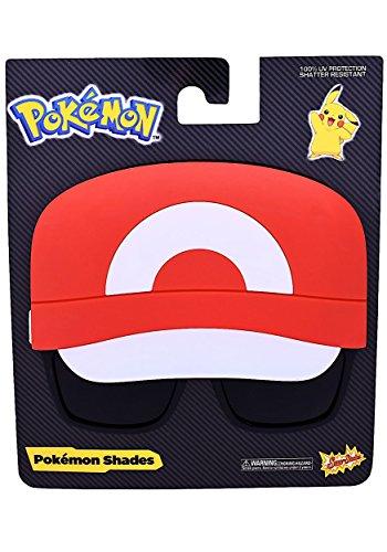 Sunstaches Pokémon Ash Instant Costume Licensed - Sunglasses Pokemon