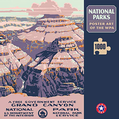 (Grand Canyon National Park Poster Art of The WPA 1000 Jigzaw Puzzle Games for Kids Adults Collector Item (Printed in USA))