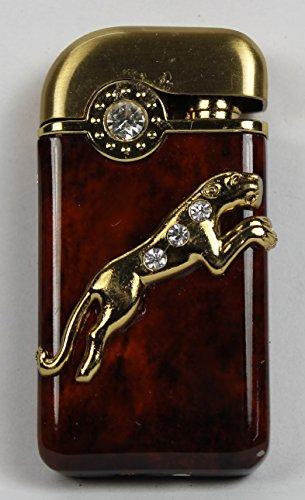 Cheetah Premium Stone Studded Designer Butane Jet Flame Cigarette Lighter In Glossy Finish Lit607