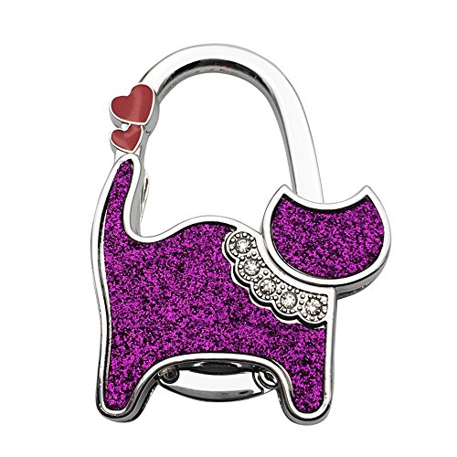 ZoCr Cat Style Premium Foldable Handbag Bag Purse Hanger Table Hook Holder (Purple) from ZoCr