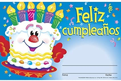 Remarkable Amazon Com Feliz Cumpleanos Pastel Spanish Happy Birthday Cake Funny Birthday Cards Online Inifodamsfinfo