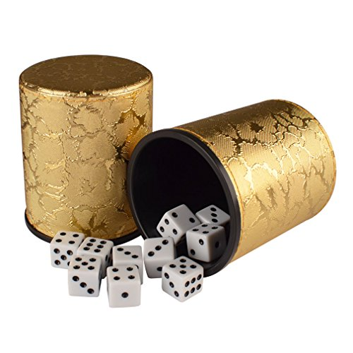 Casino-Liars-Dice-Golden-Cup-Shaker-Bluffing-Game-4-Cups-and-20-16cm-Dice