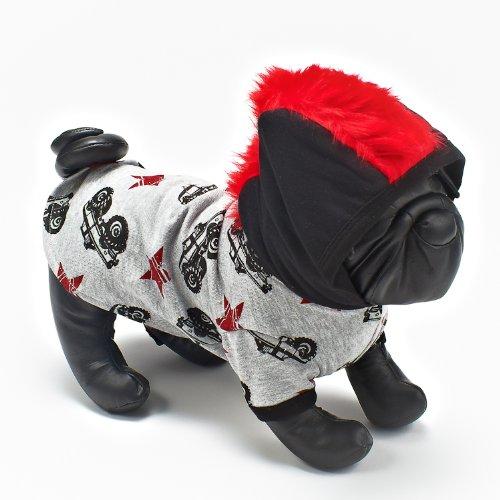 Hip Doggie Parker Monster Truck Mohauk Hoodie size XXS (japan import)
