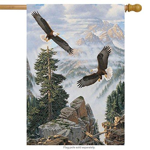 Briarwood Lane Eagles in Flight Summer House Flag Nature Bald Eagles 28